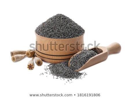 Papavero sementi ciotola alimentare spazio mangiare Foto d'archivio © jirkaejc