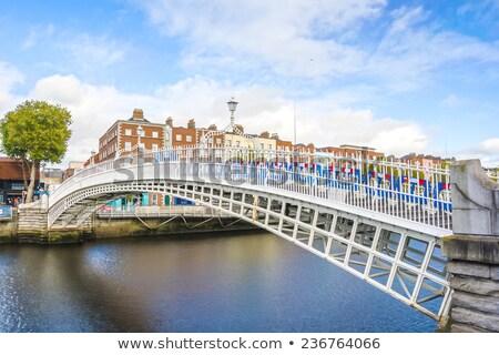 Дублин · ночь · моста · реке - Сток-фото © hofmeester