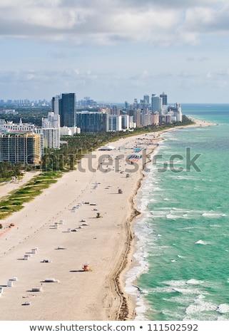 Miami · spiaggia · acqua · città · luce - foto d'archivio © meinzahn