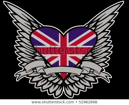 сердце · Великобритания · флаг · Элементы · британский · флаг - Сток-фото © Miloushek