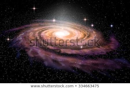 иллюстрация · спиральных · галактики · звездой · области · облака - Сток-фото © cherezoff