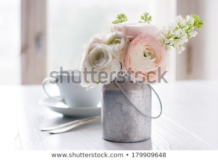 A Romantic Breakfast Table Arrangement Stock photo © Kuzeytac