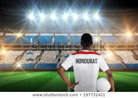 サッカーボール ホンジュラス フラグ ピッチ サッカー 世界 ストックフォト © stevanovicigor