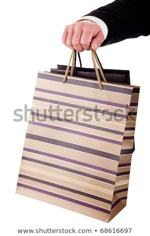 Detail man zakken geïsoleerd witte mode Stockfoto © alexandrenunes