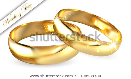 Stock photo: Wedding Bands Gold 3D