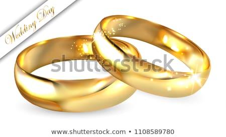 casamento · ouro · 3D · ilustração · 3d · dourado - foto stock © limbi007