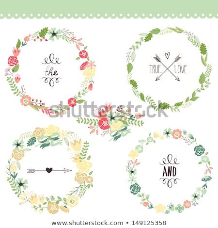 かわいい レトロな 花 国連 花輪 ストックフォト © kari-njakaBU