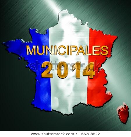 seçimler · Fransa · portre · politikacı · harita · bayrak - stok fotoğraf © nickylarson974