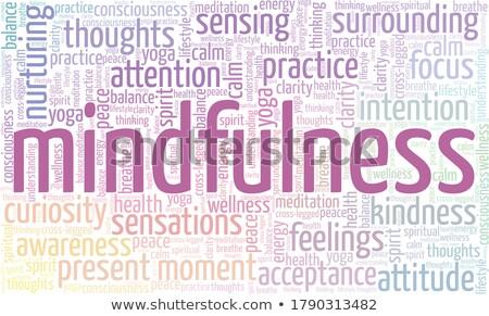 ストックフォト: Yoga Word Collage On White Background