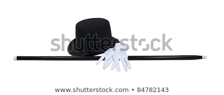 Black top hat with white gloves  Stock photo © Elisanth