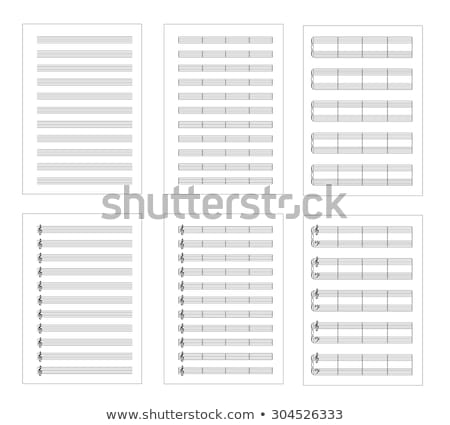 Blank A4 music notes with treble clef Stock photo © m_pavlov