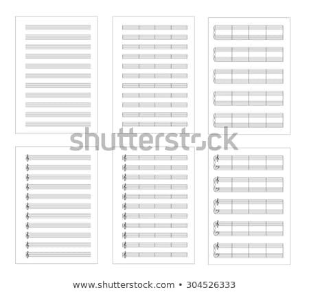 notas · musicales · textura · notas · tornado · vector · gráficos - foto stock © m_pavlov