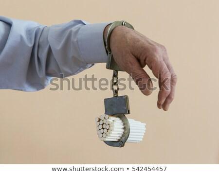 男 渇望 たばこ クローズアップ 肖像 小さな ストックフォト © ichiosea