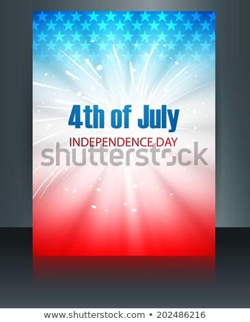 belo · bandeira · americana · americano · dia · criador - foto stock © bharat