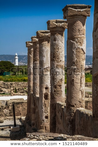 Ancient Columns at archaeological site at Kato Paphos. Paphos, Cyprus Stock photo © Kirill_M