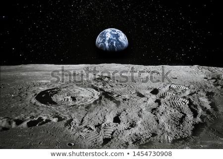 ay · süper · dolunay · arkasında · siluet - stok fotoğraf © ottoduplessis