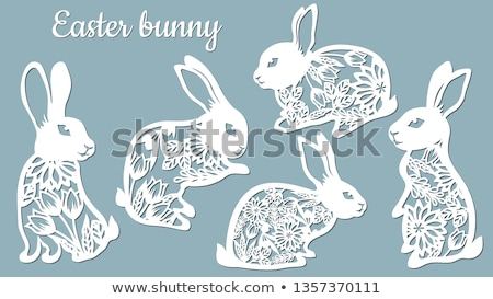 Papier gesneden konijn decoratief schoonheid Stockfoto © Soleil