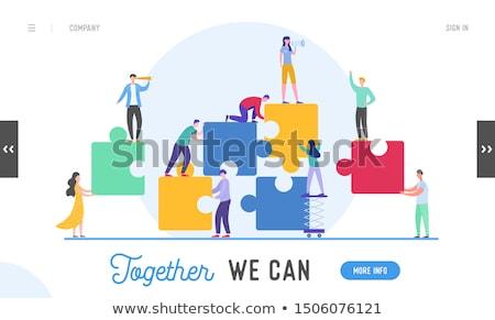 Teamwork Solution Stock photo © Lightsource