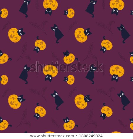 halloween seamless patterns vector stock photo © beaubelle