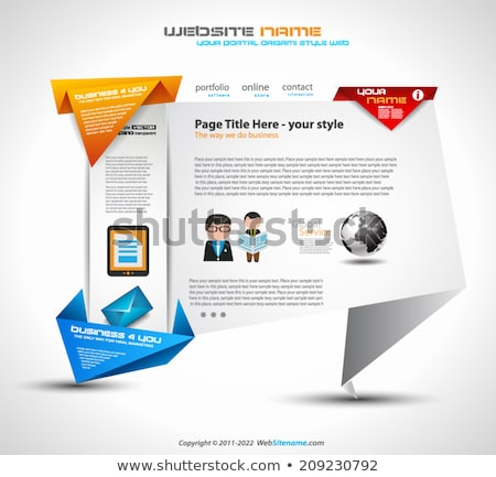 Origami style website UI Ux template for a modern look Stock photo © DavidArts
