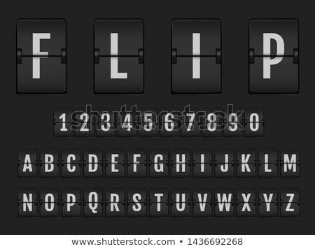 airport flight board information stock photo © daboost
