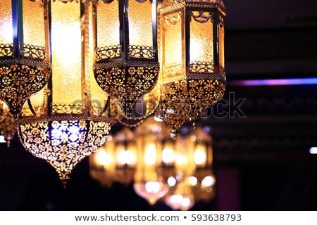 árabe iluminação lâmpada noite estilo celebração Foto stock © BibiDesign