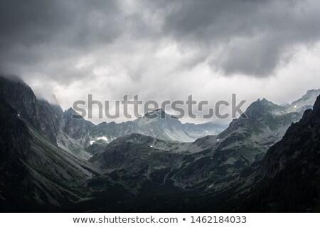 sugarak · napsütés · felhők · sötét · felirat · vihar - stock fotó © nature78
