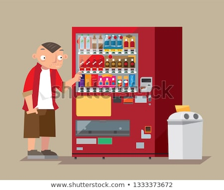 Populariteit display automaat opschrift business geld Stockfoto © tashatuvango