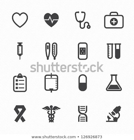 сердце медицинской икона свадьба счастливым дизайна Сток-фото © kiddaikiddee