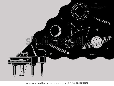 rajz · gramofon · kéz · terv · művészet · retro - stock fotó © tikkraf69