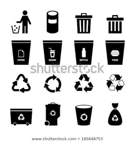 Edificio de oficinas reciclaje símbolo aislado casa verde Foto stock © petovarga
