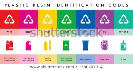 Plastic resin codes   Stock photo © Norberthos