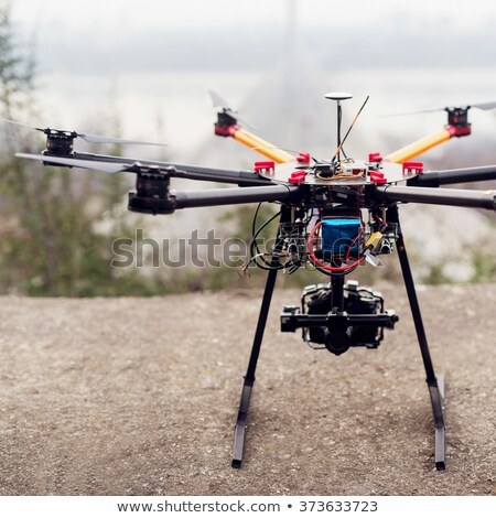 octocopter drone ready to takeoff stock photo © kor