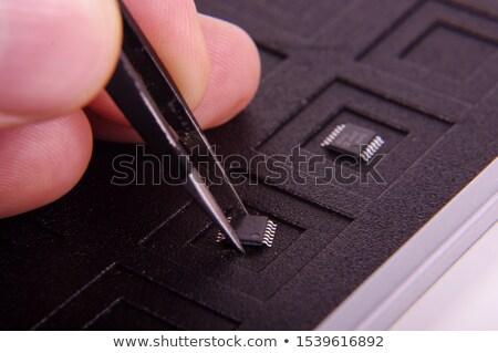 Fora eletrônico preto aço Foto stock © aza