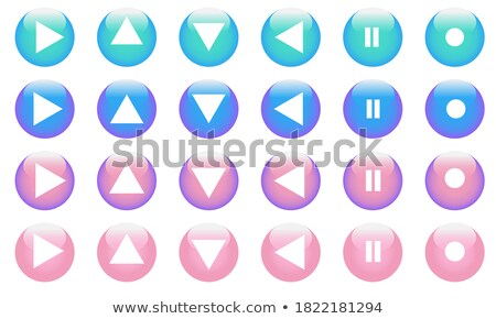Pause Circular Vector Blue Web Icon Button Stock photo © rizwanali3d