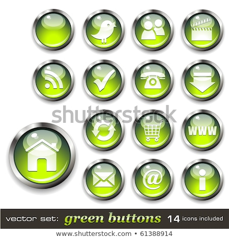 Indirmek video yeşil vektör ikon düğme Stok fotoğraf © rizwanali3d