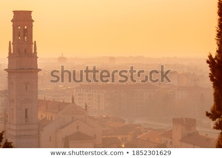 Beautiful panorama of San Pietro castle, Italy  Stock photo © tannjuska