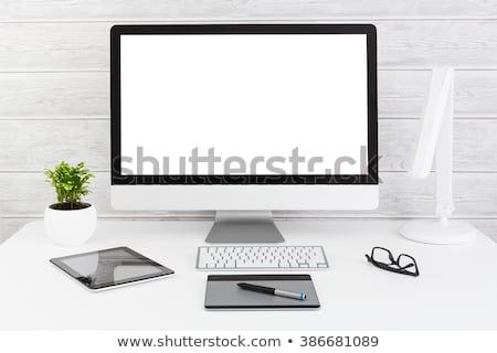 Tabletka biurko komputera pióro tabeli Zdjęcia stock © Zerbor