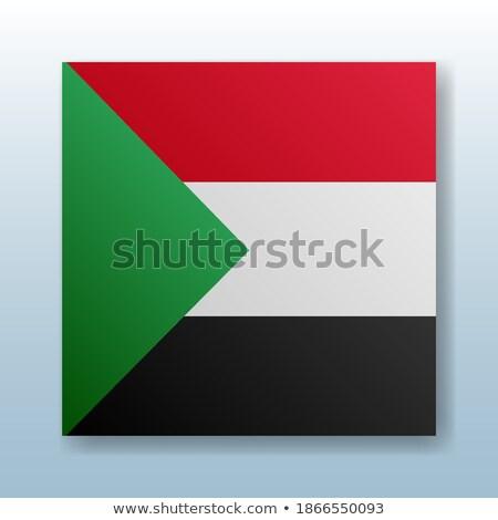 Przycisk symbol Sudan banderą Pokaż biały Zdjęcia stock © mayboro1964