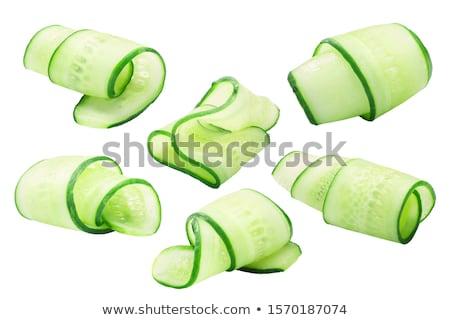 тонкий ломтик огурца белый продовольствие Сток-фото © dezign56