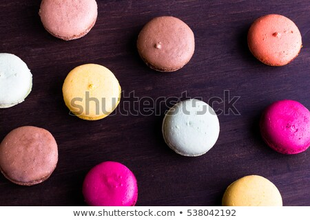 macarons with different colors and flavors Stock photo © nito
