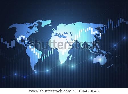 Stockfoto: Grafiek · wereld · beneden · business · teken · bar