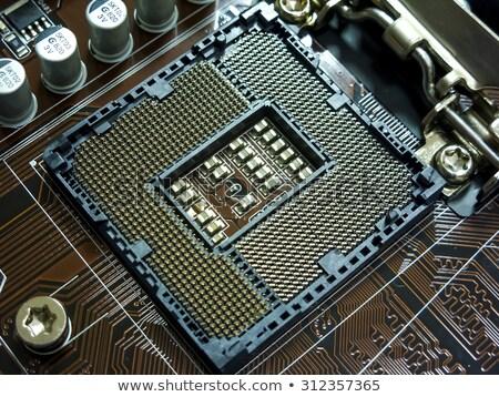 Brown motherboard for socket 1150 Stock photo © RuslanOmega