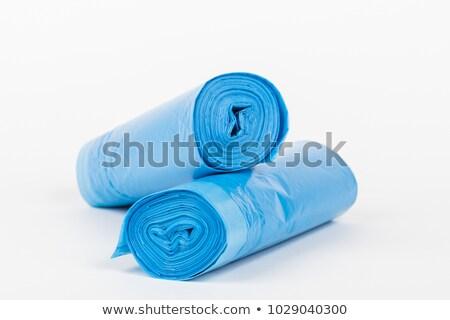 ロール · 青 · プラスチック · ごみ · 袋 · 孤立した - ストックフォト © peter_zijlstra