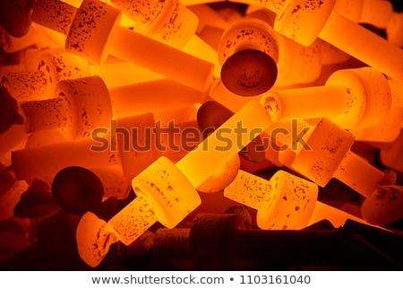 quente · aço · fogo · metal · fumar · fábrica - foto stock © mady70