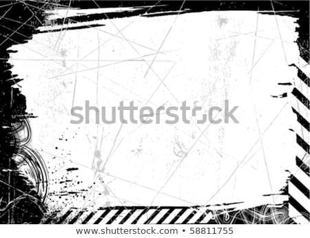 müzik · grunge · çerçeve · kentsel · Yıldız · hoparlörler - stok fotoğraf © oblachko