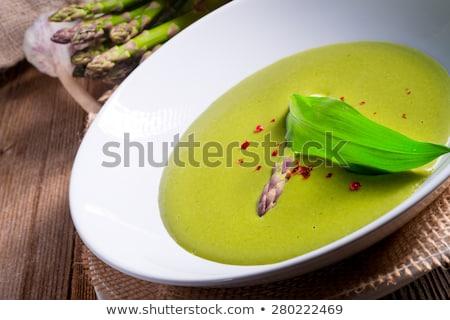Spárga leves tavasz erdő háttér növény Stock fotó © Dar1930