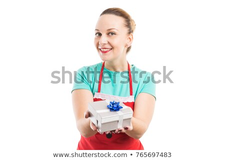 Woman offering a gift box Stock photo © wavebreak_media