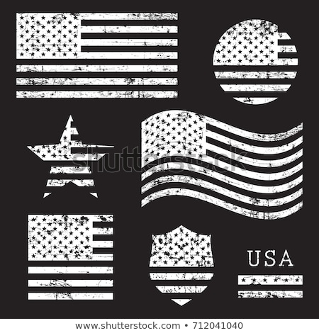 Square sticker with flag of united states of america Stock photo © MikhailMishchenko