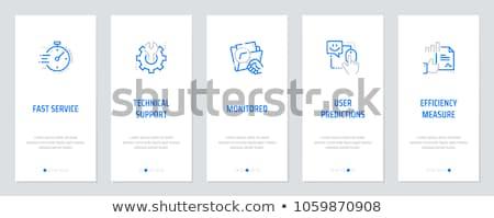 Faq écrire dossier bureau outils affaires Photo stock © fuzzbones0